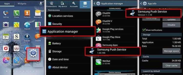 Samsung Push Service update