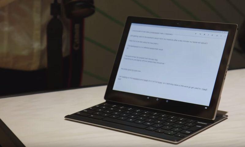 Pixel C tablet presentation