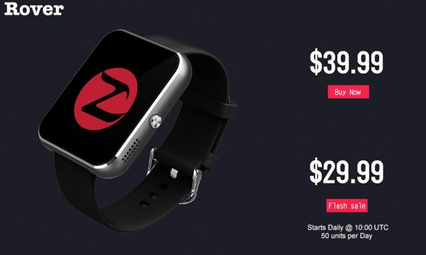 Limited Zeblaze Rover stock smartwatch promotion