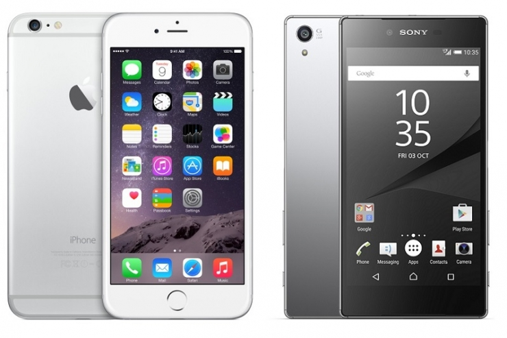 afstand iphone 6s vs sony xperia z5 premium the