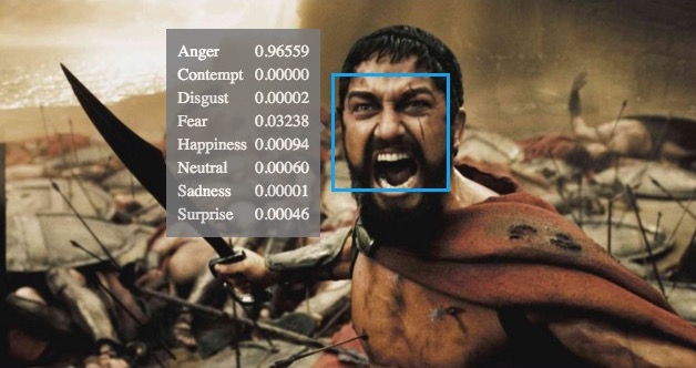 King Leonidas is angry in this picture