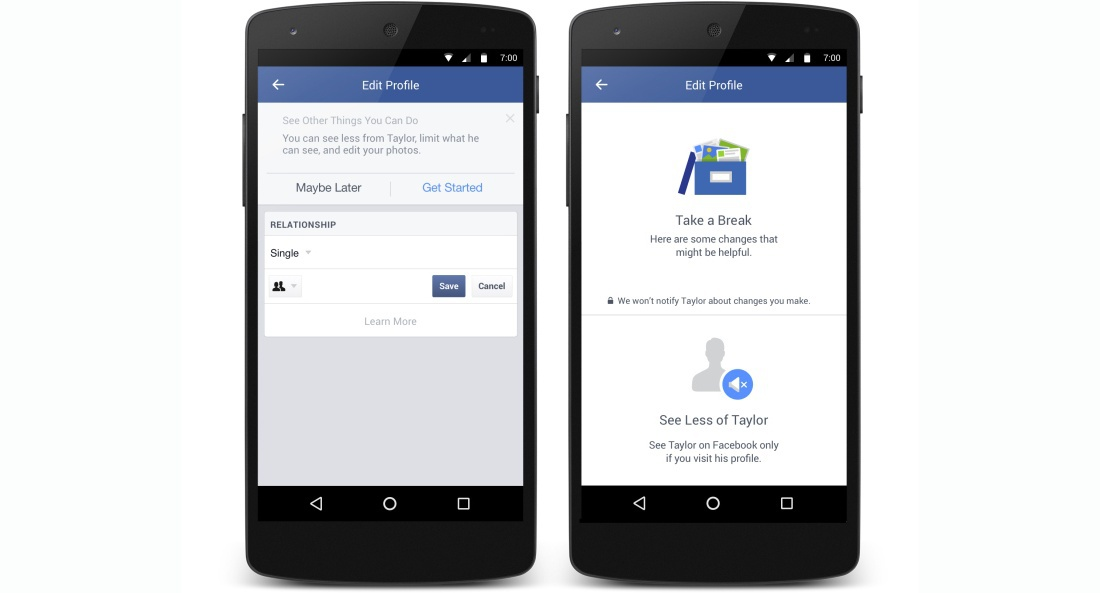 Facebook offers now support for digital breakups