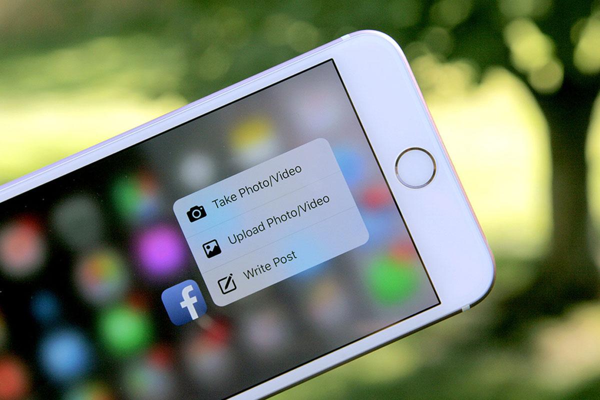 3D Touch Facebook