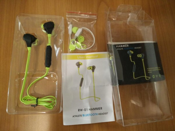 Hammer Athlete bluetooth headset unboxing