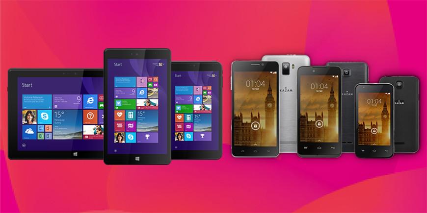 Kazam unveils 3 tablets, 2 phones, all Windows